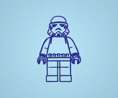 Lego Storm Trooper  Wall Vinyl by