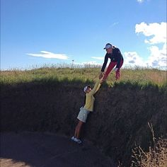 Having a little trouble getting out of the bunker....