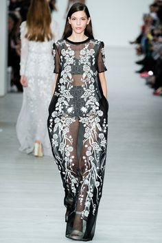 Sheer embroidered jumpsuit at Matthew Williamson, Spring 2014