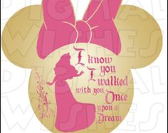 Aurora Sleeping Beauty Silhouette Minnie Mouse head Digital Iron on transfer Image clip art Image INSTANT DOWNLOAD