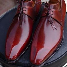 Bordeaux dress shoes for men