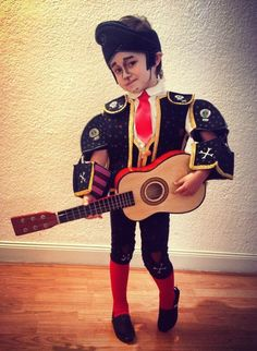 "My boy with his ""Manolo"" costume of ""the book of life""... DIY Mommy idea:))) Mi niño con su disfraz de Manolo de ""el libro de la vida""... DIY idea de Mami:)))"