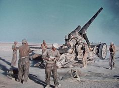 Firing 17 cm Kanone 18 in North Africa