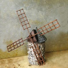 polymer windmill for my fairy garden...