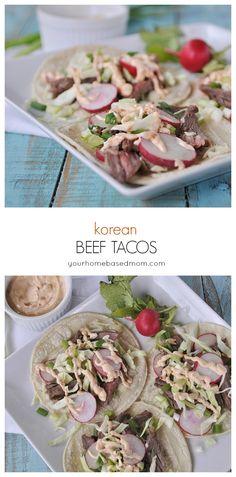 Korean Beef Tacos @yourhomebasedmom