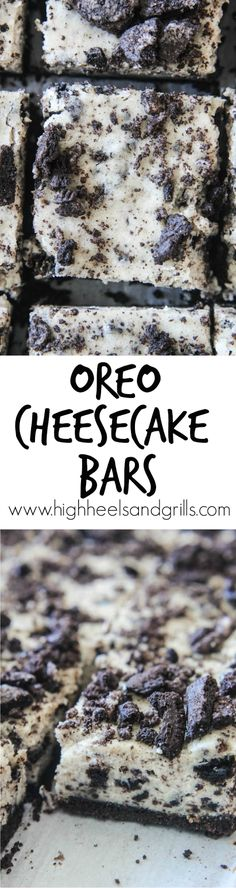 Oreo Cheesecake Bars