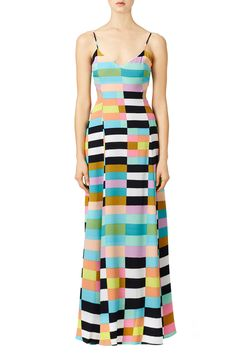 Rent Rainbow Flag Stripe Maxi Dress by Mara Hoffman for $60 only at Rent the Runway.