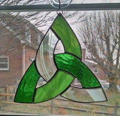 Celtic Knot Stained Glass Suncatcher Irish by StainedGlassYourWay