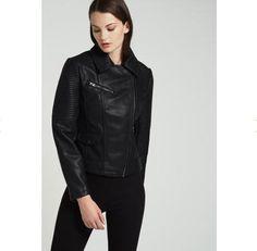 Veste femme Zalando, craquez sur la Topshop Veste en similicuir noir prix promo Zalando 80.00 € TTC - #Zalando - #TopShop