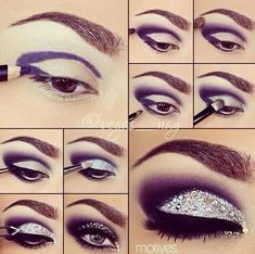How to Cut Crease Glitter Eyes