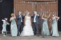 Animal Masks!  http://whimsicalwonderlandweddings.com/2012/05/banham-zoo-wedding.html#