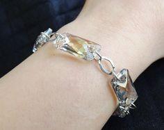 Bracciale in argento 925 e Swarovski Space di SognantiStelleBijoux