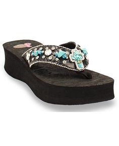 Justin Carly Turquoise Cross Flip Flops love these Shoes Heels Boots, Heeled Boots, Decorating Flip Flops, Cute Flip Flops, Bling Sandals, All About Shoes, Justin Boots, Womens Flip Flops, Flip Flop Sandals