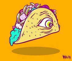Sarapan ala meksico  #artwork #illustration #junkfood by muklay
