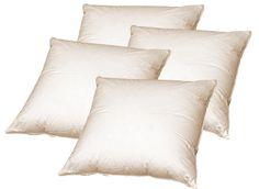 Beties lot de 4 coussins 50 x 50 cm en plumes véritables-résistant et indéformable-couleur : crème: Amazon.fr: Cuisine & Maison