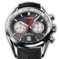 CARRERA  CALIBRE 17 Automatic Chronograph 41 mm Anthracite & Silver Leather bracelet | TAG Heuer