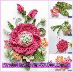 Crochet Bouquet of Flowers This crochet pattern / tutorial is available for free. Full Post: Crochet Bouquet of Flowers Beau Crochet, Crochet Mignon, Knit Or Crochet, Irish Crochet, Crochet Crafts, Crochet Projects, Crochet Shrugs, Crochet Motifs, Crochet Flower Patterns