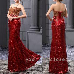 #evening #dress Luxurious gorgeous sequins fishtail evening dress