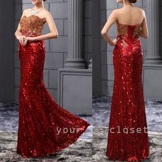 #evening #dress Luxurious gorgeous sequins fishtail evening dress #coniefox #2016prom
