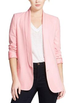 Enlishop Women's OL Long Sleeve Lapel Slim Boyfriend Blazer Jacket ** This is an Amazon Affiliate link. Check out the image by visiting the link.