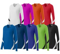 Augusta Dig LS Jersey - 92% polyester/8% spandex wicking pinhole mesh.  Available in youth sizes.  Call 952-808-0100 for more details. Printing available.