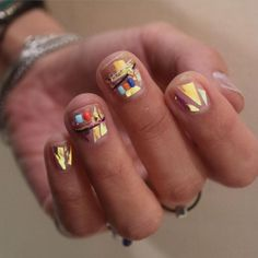 Boho glass nails