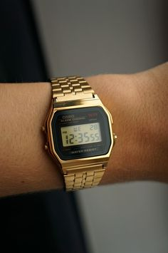 Gold Casio. http://neonwatch.tumblr.com/post/101744918811/great-deal-on-the-vaporware-golden-casio-at