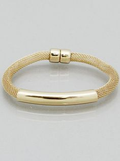 Gold Mesh Chain and Tube Bracelet – JaeBee Jewelry