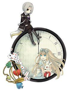 Alice In Wonderland Manga (Alice in the Country of Hearts) Manga Drawing, Manga Art, Manga Anime, Anime Art, Alice In Wonderland Clocks, Adventures In Wonderland, Alice Liddell, Alice Anime, Art Kawaii