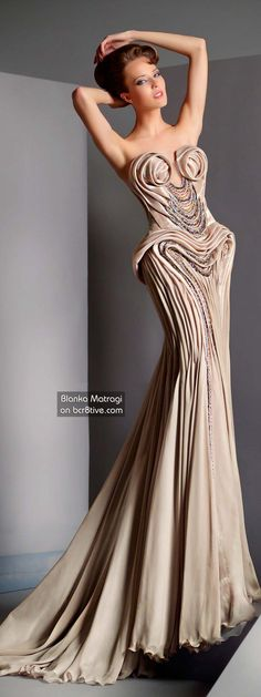 The Versatile Talents of Artisan Blanka Matragi Features her Anniversary Haute Couture Collection and some of her other Outstanding Creative Products Couture Fashion, Runway Fashion, High Fashion, Glamorous Dresses, Color Plata, Glamour, Designer Gowns, Couture Collection, Beautiful Gowns