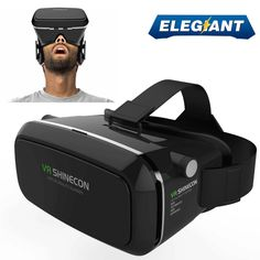 ELEGIANT 360 Viewing Immersive Virtual Reality 3D VR Glasses Google Cardboard 3D Video Games Glasses VR Headset Compatible with 3.5-6.0 inches Android & Apple Smartphones for 3D Movies and Games