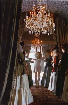 Marie Antoinette (2006) with Kirsten Dunst by Sofia Coppola, dress design Milena Canonero  - from Austrian to French before the first meeting