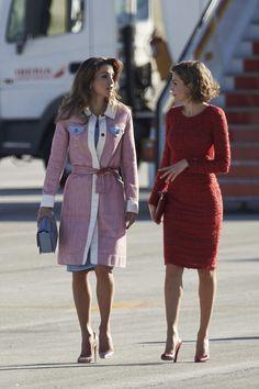 Queen Letizia of Spain Photos - Spanish Royals Receive Jordan Royals at Madrid Airport - Zimbio