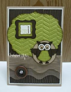 STAMPIN' UP! OWL CARD, WITH SNEAK PEEKS