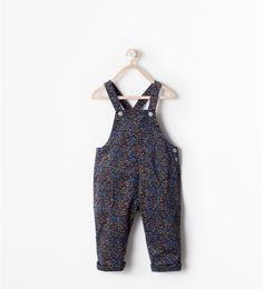 FLORAL PRINT DUNGAREES from Zara Baby Girl