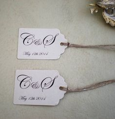 personalised wedding favour tags by edgeinspired | notonthehighstreet.com