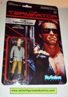Funko Toys ReACTION action figures for sale to buy The Terminator movie - THE TERMINATOR New - still factory sealed in the original package condition: overall great condition card and bubble; minor sh