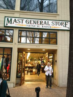 Mast General Store on Main St in Greenville, SC..Want to go there soon...