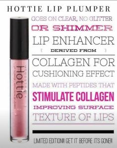 The hottest new lip plumper is on the market right now. Hottie by Younique will not disappoint giving the perfect plump pout. Kat Von D Makeup, Younique Presenter, Beauty Bar, Teen Beauty, Diy Beauty, Beauty Makeup, Lip Plumper, Lip Liner, Makeup Tips