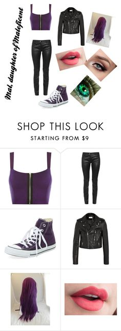 """""""#DaughterOfMaleficent"""" by ethan-s-queen on Polyvore featuring WearAll, Balenciaga, Converse and Yves Saint Laurent"""