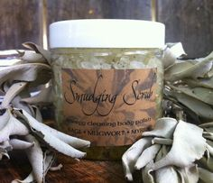 Smudging Scrub for energy clearing bath rituals by TheSageGoddess, $15.00