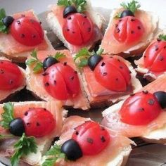 "Recipes with photos Sandwiches ""Ladybugs""."