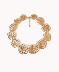 Floral Cutout Bib Necklace | FOREVER21 - 1078306881