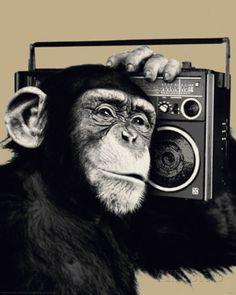 The Chimp-Boombox Poster at AllPosters.com $22