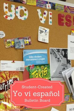 This Yo Vi Espanol bulletin board is the perfect Spanish class bulletin board to help keep your students excited about the language. It is also a fun bonus point assignment for Spanish students. Spanish Class Bulletin Board - I Saw Spanish Bulletin Board - Spanish Class Ideas - The Gifted Gabber