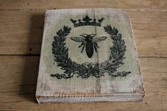 Vintage Bee Signs Bee Decor Set Of 2 Signs Rustic By Kashturana