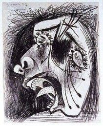 Picasso guernica étude (3)