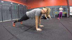 It's push-up month at CrossFit LandRush! Take a few mins each time you come in to work on getting better at push-ups. Focus on 2 key things. 1. Keeping the hips off of the floor. Demonstrated by Brandi in the video. This helps build core strength to keep the body stable. 2. keeping the elbows tucked in. Demonstrated by Az. Imagine pushing the person across from you. Keeping the elbows tucked will engage more of the pectoral muscle to help push you up. If you have trouble keeping them in turn…