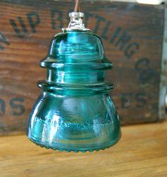 $75 Nostalgic Antique Insulator Pendant Light by TronaTradingCo