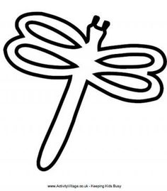 dragonfly wings pattern use the printable outline for crafts